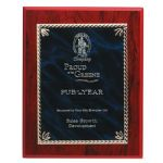 Rope Edge Gold/Blue Mist Brass on Wood Presentation Award